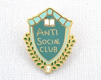 Anti Social Club Enamel Lapel Pin