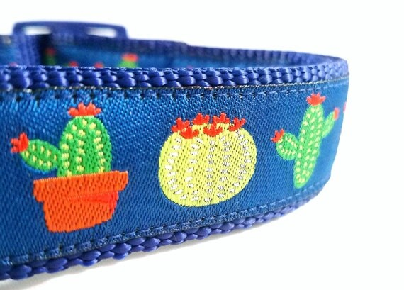 The Prickly Pup - Dog Collar / Large Dog Collar / Adjustable / Catus / Dog Collar / Pet Collar / Pet Lover