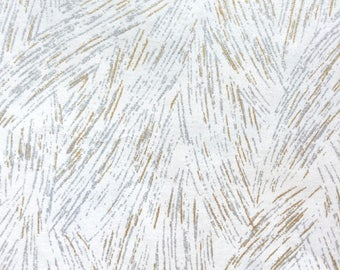 Chiyogami Washi Japanese Paper Sheet 18x24 inches - Gold and Silver on White -IMPERFECT