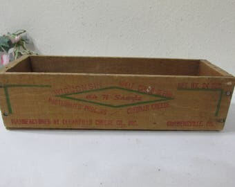 Wood Cheese Box 24 Ounces Cheddar Cheese Vintage Crate