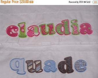 ON SALE Personalized Name Pillowcase STANDARD Size You Choose Fabrics Personalized