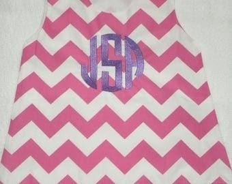 ON SALE Sale READY To Monogram 4T Personalized Chevron Aline Dress Monogrammed Jumper