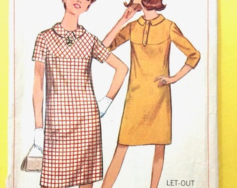 Simplicity 6591 1960s Maternity Dress Vintage Sewing Pattern Bust 32