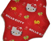Liner Hemp Core- Red Kitty Reusable Cloth Mini Pad- WindPro Fleece- 7.5 Inches (19 cm)