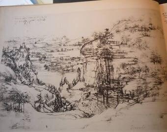 Da Vinci - View of the Arno River Leonardo's first dated work - August 1473 - Fine Art Print - Italian Renaissance Framable  for art lovers