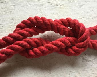 Soft Red Rope, Cream Rope, 32ft Length Total, Intimate Rope, Personal Rope, Bondage Rope,  Couples Restraint, Shades of Grey