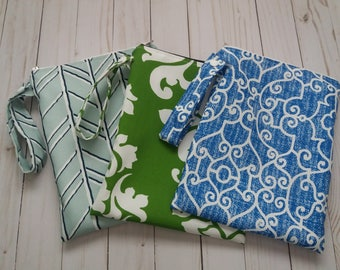 Share with a friend ! 3 Wet Bags for wet bathing suits, beach wet bag,