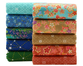 Japanese Style Cotton Quilting Fabric Patchwork Fat Quarter Bundles Tissues Fabric for Bedding Pillows Cushion 40X50CM 10pcs