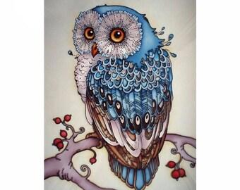 Full Diamond Embroidery Blue Owl 5D Diamond Painting Cross Stitch 3D Diamond Mosaic Needlework Crafts