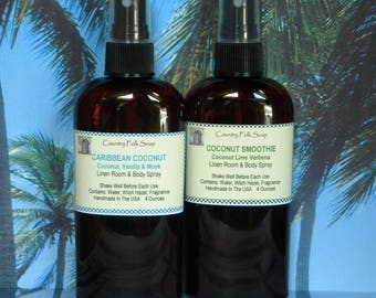 Coconut Room Spray, Coconut Body Mist Spray, Coconut Home Spray, Coconut Linen Spray, Coconut Car Spray, Toasted Goat, Coconut Lime Verbena