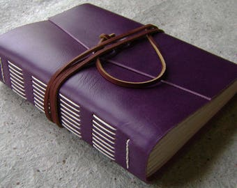 """Chunky leather journal, 5.5""""x 7.5"""",  384 pages, old world journal, leather sketchbook, travel journal  (2613)"""