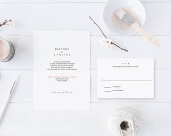 Masculine Wedding Invitation
