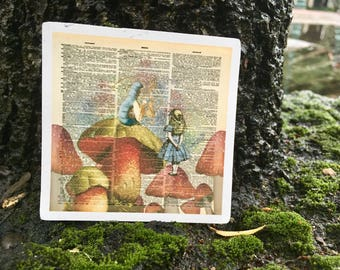 Pages in Time - Garden Fairytales Alice in Wonderland Vinyl Magnet