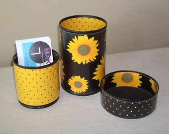 RESERVED  -  CUSTOM ORDER  - Add on to Order #1220005674 - Sunflower Desk Accessories