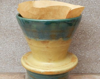 Coffee filter holder dripper pourover hand thrown stoneware pour over pottery handmade ceramic wheelthrown