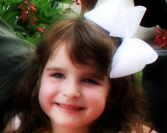 """You Pick 10 - Extra Large Hair Bows - Choose Colors - 2.25"""" Ribbon- Birthday, Flower Girl, Pageant, Summer Beach Photos"""