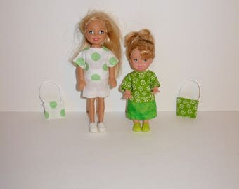 Handmade barbie clothes - Cute mix and match outfits for barbies' sister Kelly Chelsea