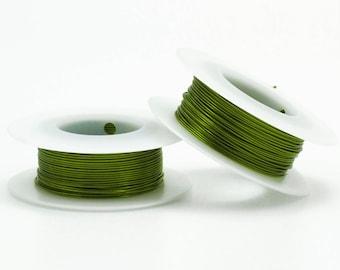 New Shamrock Green Wire - Enameled Coated Copper - 14, 18, 20, 22, 24, 26, 28, 30 gauge - 100 Percent Guarantee