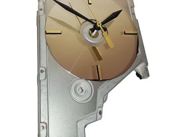 Early 1980s Hard Drive Cover Wall Clock. Funky, Artistic Clock.