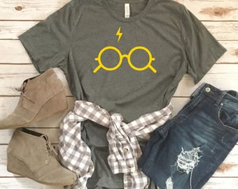 Lightening Bolt and Glasses Tee - Character Inspired Tee