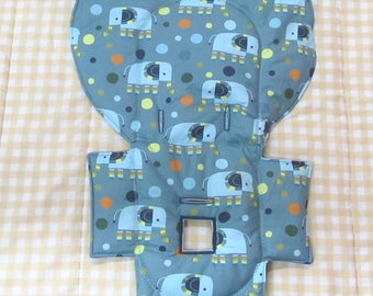 Evenflo padded high chair cover, highchair replacement pad, baby chair accessory, baby child care furniture, kids feeding chair, elephants