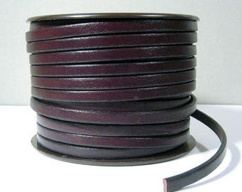 5mm Flat Leather - Chocolate Brown - Choose Your Length
