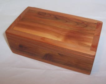 Handcrafted Reclaimed Cedar Combination Wood Box