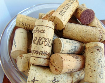 101 Wine Corks for Wreath, Bulletine Board, Key Fob, Party Favor, Christmas Ornament Crafting