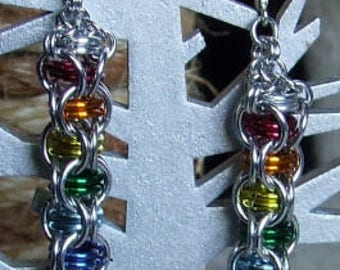 Chainmail Rainbow Earrings
