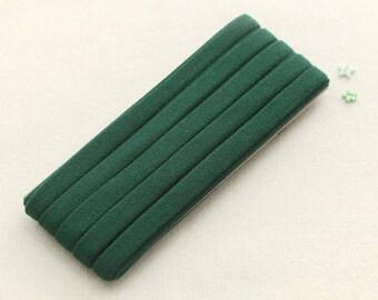 Thin Knit Double fold Bias, Green, U3050
