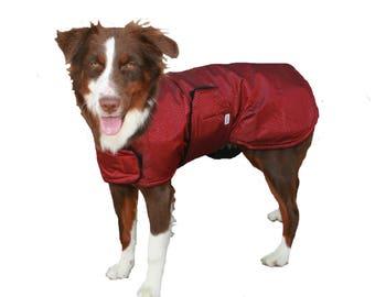 Extreme Winter Dog Coat, custom dog coat, tough dog coat, diamond ripstop dog coat, adjustable dog coat