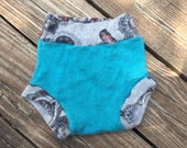50% OFF SALE!!Cashmere Teal and Paisley Soaker Cover, Size Medium (9-18 mo Mo)