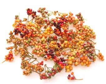 35 Fall Berry Medley - Colorful Styrofoam Ball Sprigs