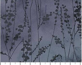 Northcott - Ambrosia - Vine Stems - Twilight - Dk Grey Fabric by yard or select cut  21250-96
