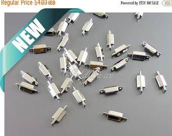 15% SALE 20 pcs tiny rectangle bar connectors, tiny bar charms, bracelet charm spacers 2129-BR (20 pcs)