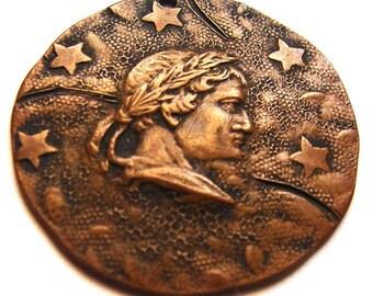 TITUS ROMAN EMPIRE Caesar Emperor 5 Stars Medallion Medal Pendant Amulet Charm