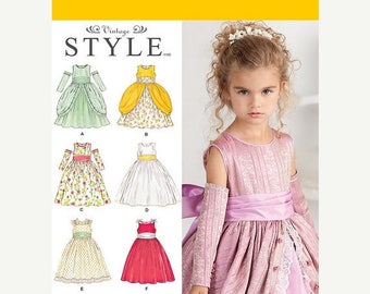 Gorgeous Little Girls Princess Tangled Fairy Style Dress Patterns--Girls Multi Sizes -- 40-70% off Patterns n Books SALE