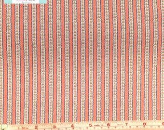 Pink Ticking Stripe Vintage Fabric