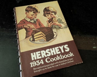 Vintage Hershey's Cookbook - Chocolate Reproduction 1934 Recipes - Chocolate Lover Cook Baker Dessert Maker Foodie Gift - Retro Kitchen