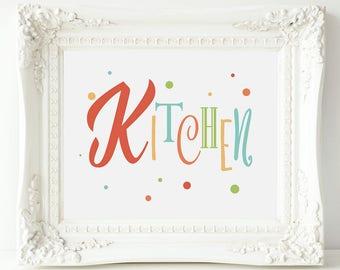 Kitchen Signage, Kitchen Sign Art, Kitchen Decor, Bright Kitchen Art, Colorful Kitchen Sign, Kitchen Art, Sign for Kitchen, Kitchen Print