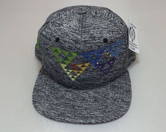 Snapback Flat-Brim Hat - Sierpinski Spiral (One-of-a-kind)