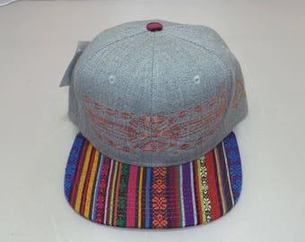 Snapback Flat-Brim Hat - Native (One-Of-A-Kind)