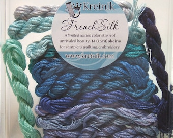 Kreinik French Silk Embroidery Thread Floss Blue Collection B4205