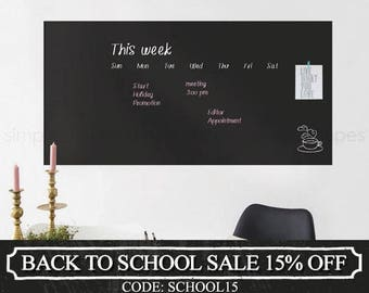 Chalkboard Wall Decal, Chalkboard Decal Sheet, Large Chalkboard Wall Decal, Chalkboard Wall