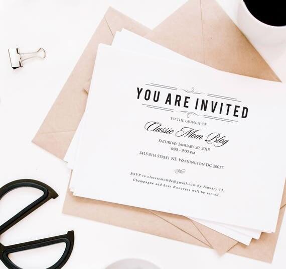 Rehearsal dinner invitations formal invites charity event like this item stopboris Images