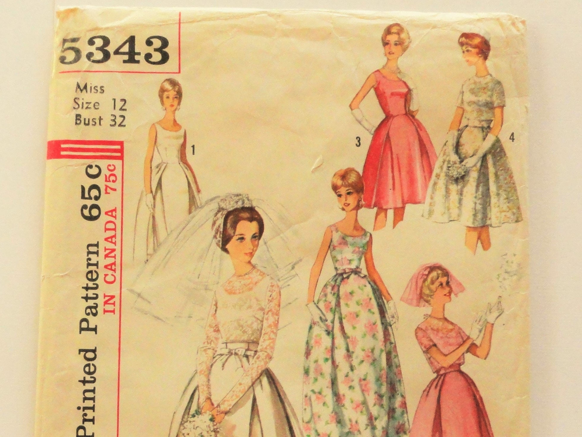 1960s wedding dress pattern sleeveless bridesmaid dress evening sold by lynnslittleshop ombrellifo Image collections
