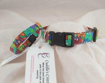 Rainbow Cat Collar, Rainbow Dog Collar