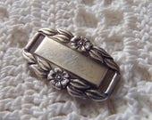 Vintage Friendship Bracelet Link Forget Me Not Sterling Silver Engraved Johnie