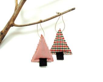 Christmas tree sachets, set of two sachets, balsam pine cinnamon trees, holiday home decor, teacher gift under 10, little pine trees