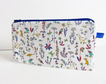 Liberty Lawn 'Theo D' zippered pencil case